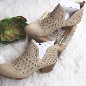 Brand New Qupid Cut Out Ankle booties